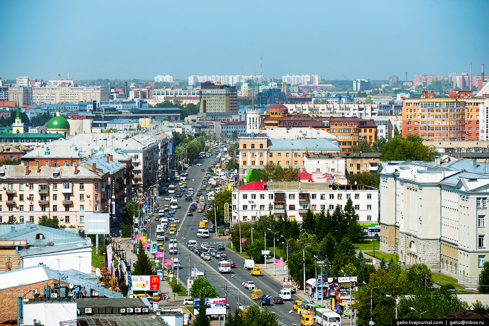 Omsk 300 years. The views of the city from the height 36