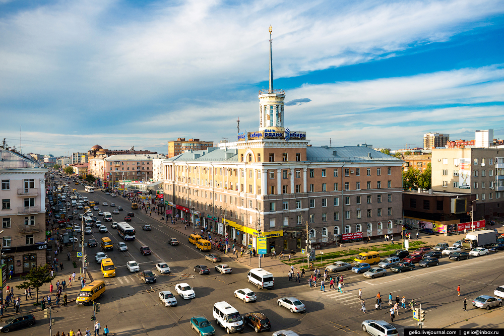 Omsk 300 years. The views of the city from the height 40