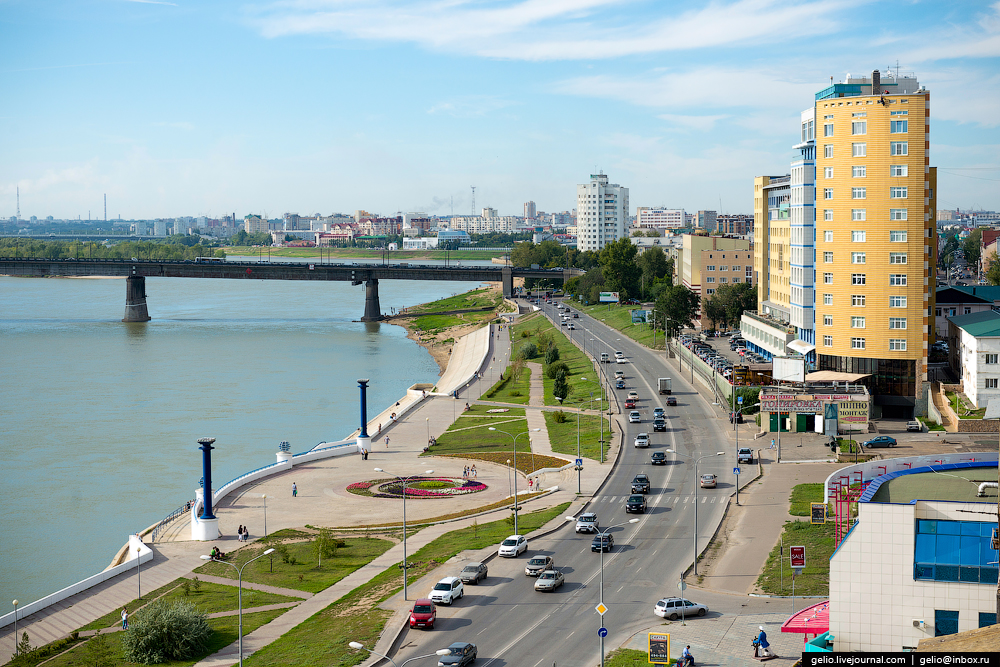 Omsk 300 years. The views of the city from the height 43
