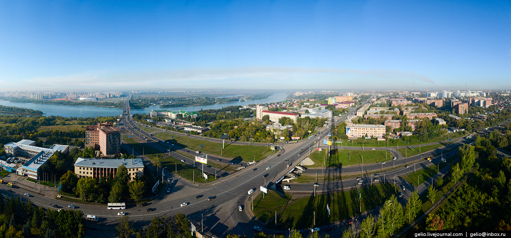 Omsk 300 years. The views of the city from the height 56