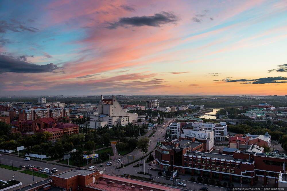 Omsk 300 years. The views of the city from the height 63