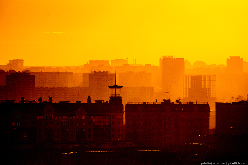 Omsk 300 years. The views of the city from the height 64