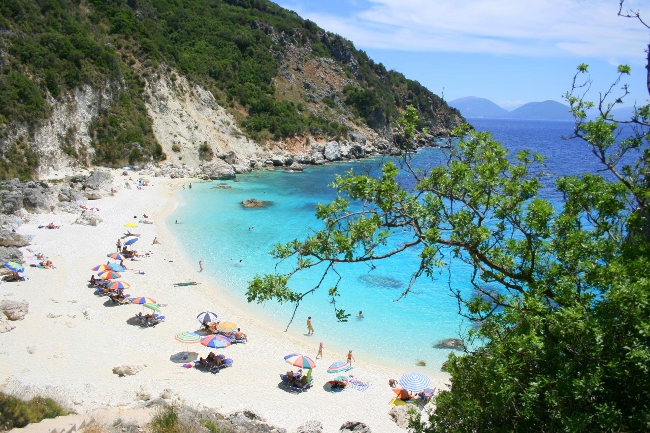 Picturesque beaches of the Greek island of Lefkada 00