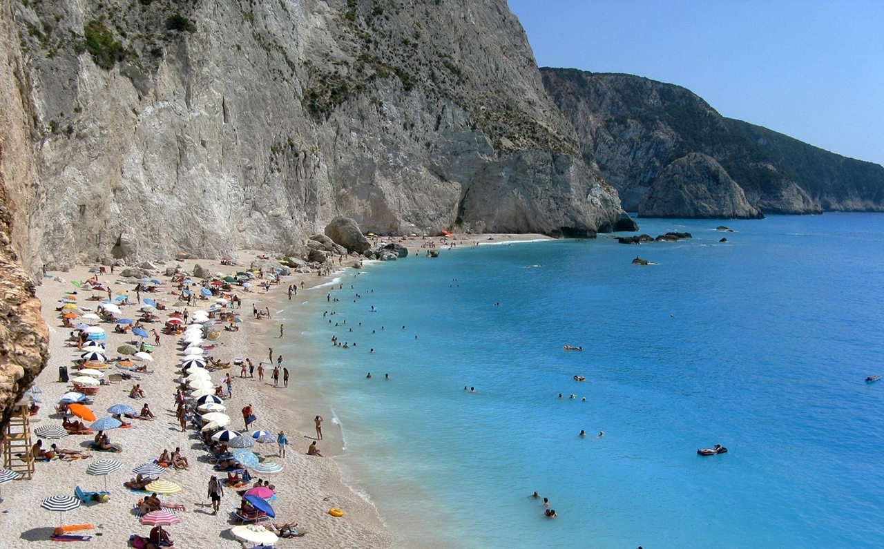 Picturesque beaches of the Greek island of Lefkada 01