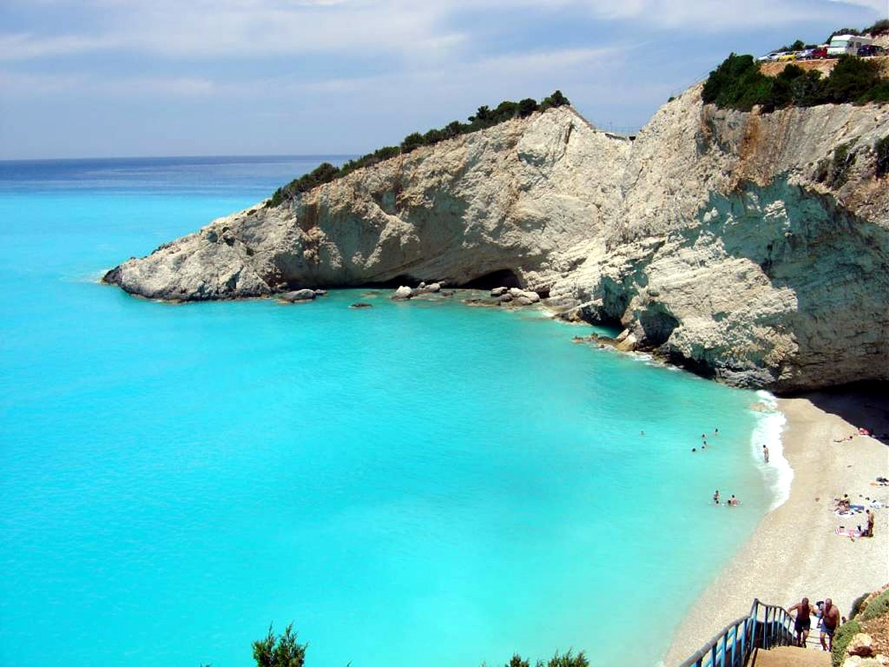 Picturesque beaches of the Greek island of Lefkada 02