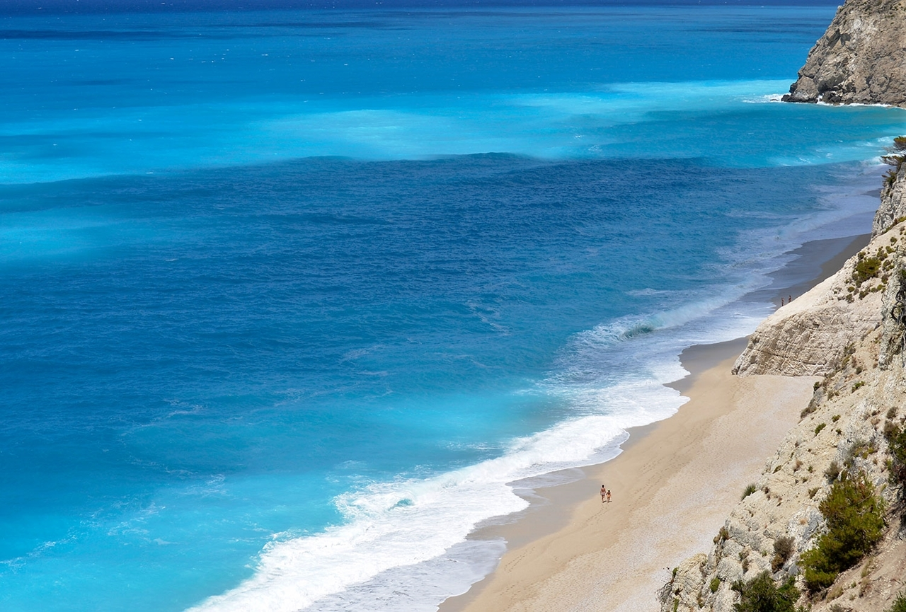 Picturesque beaches of the Greek island of Lefkada 04