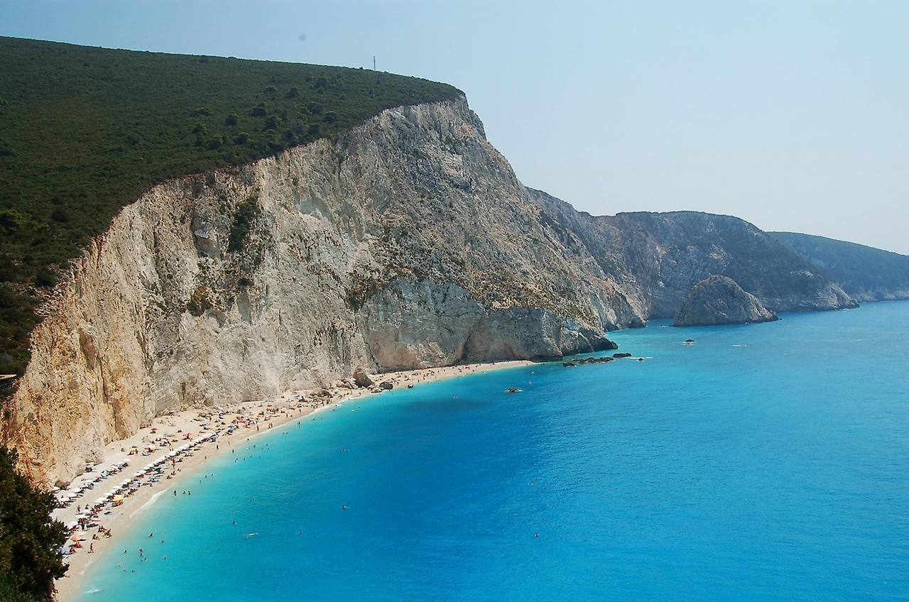 Picturesque beaches of the Greek island of Lefkada 05