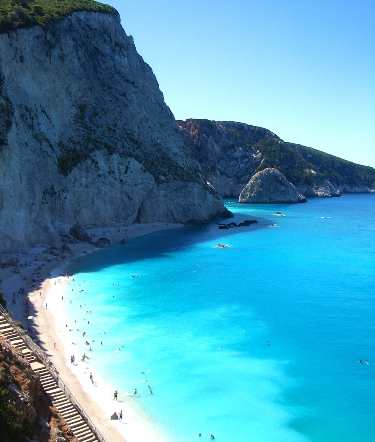 Picturesque beaches of the Greek island of Lefkada 08