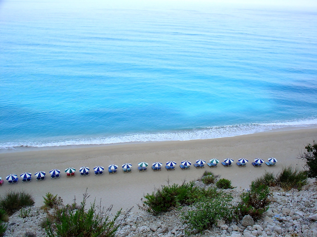 Picturesque beaches of the Greek island of Lefkada 10