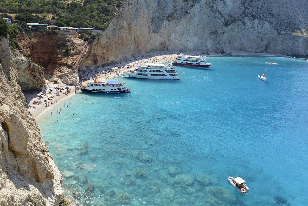 Picturesque beaches of the Greek island of Lefkada 11