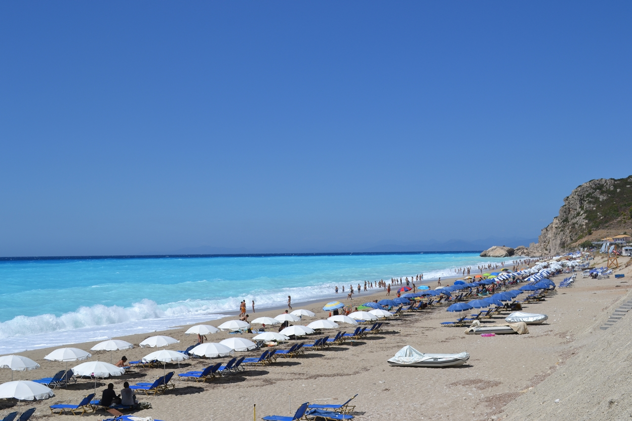 Picturesque beaches of the Greek island of Lefkada 12