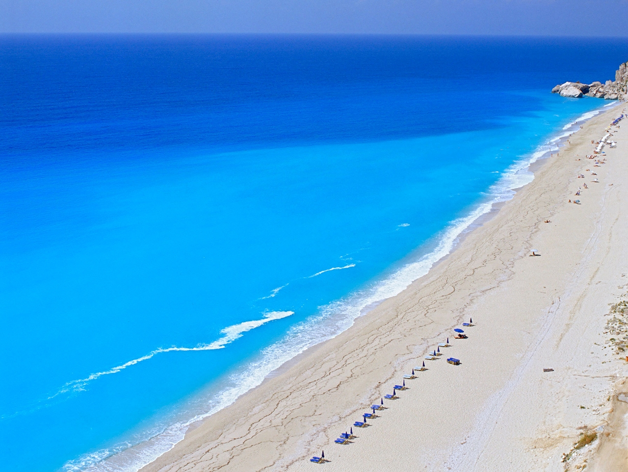 Picturesque beaches of the Greek island of Lefkada 13