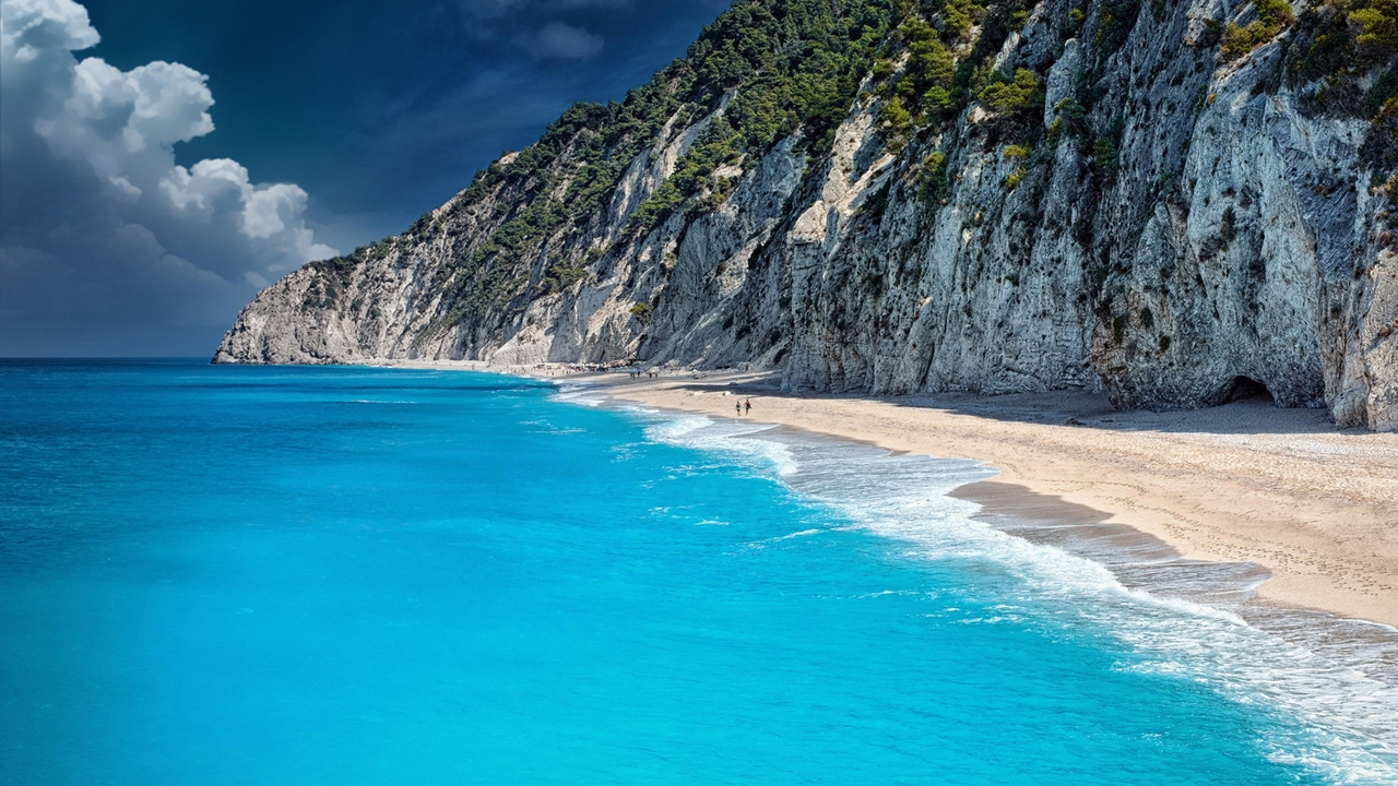 Picturesque beaches of the Greek island of Lefkada 14
