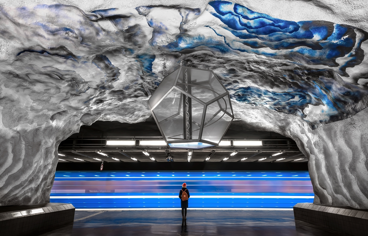 Stockholm's Colourful Metro Stations 01