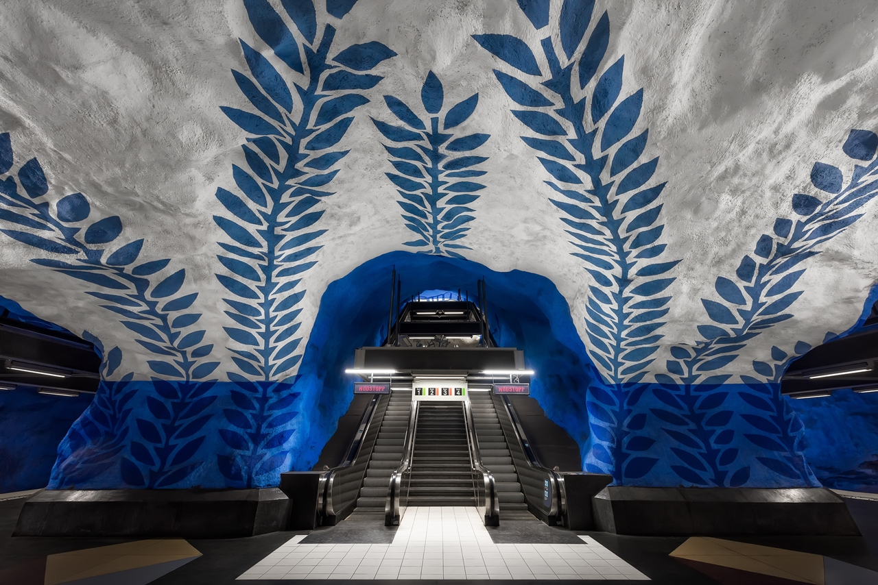Stockholm's Colourful Metro Stations 02