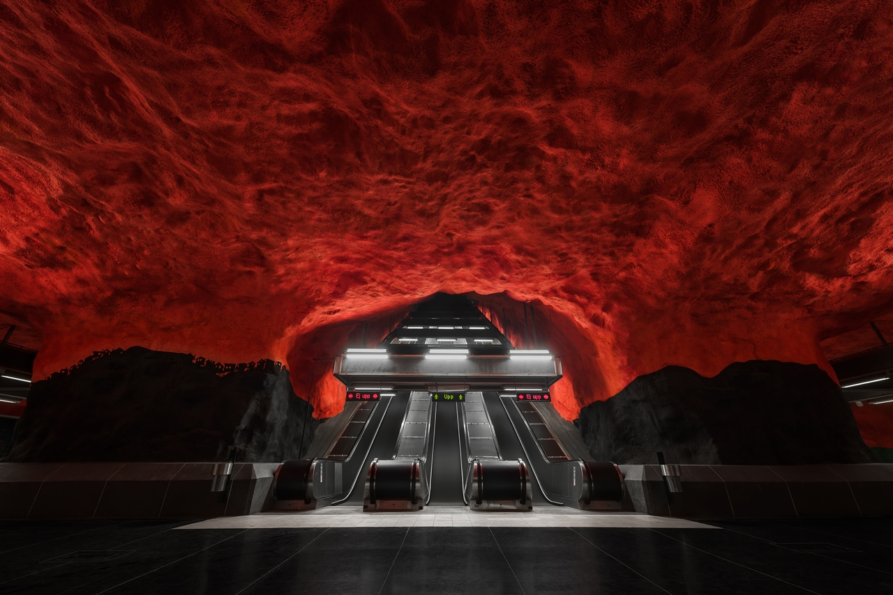 Stockholm's Colourful Metro Stations 03