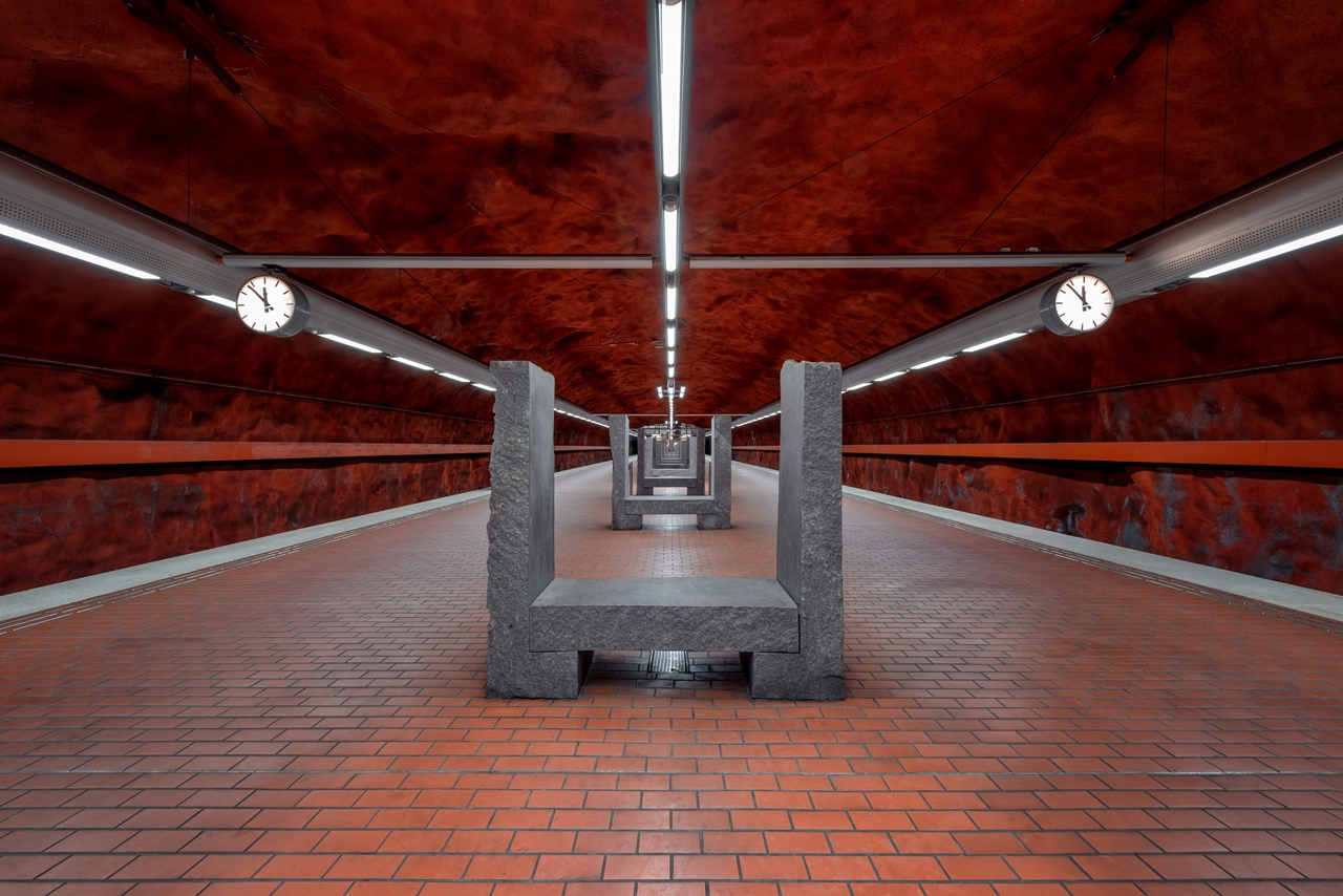 Stockholm's Colourful Metro Stations 06