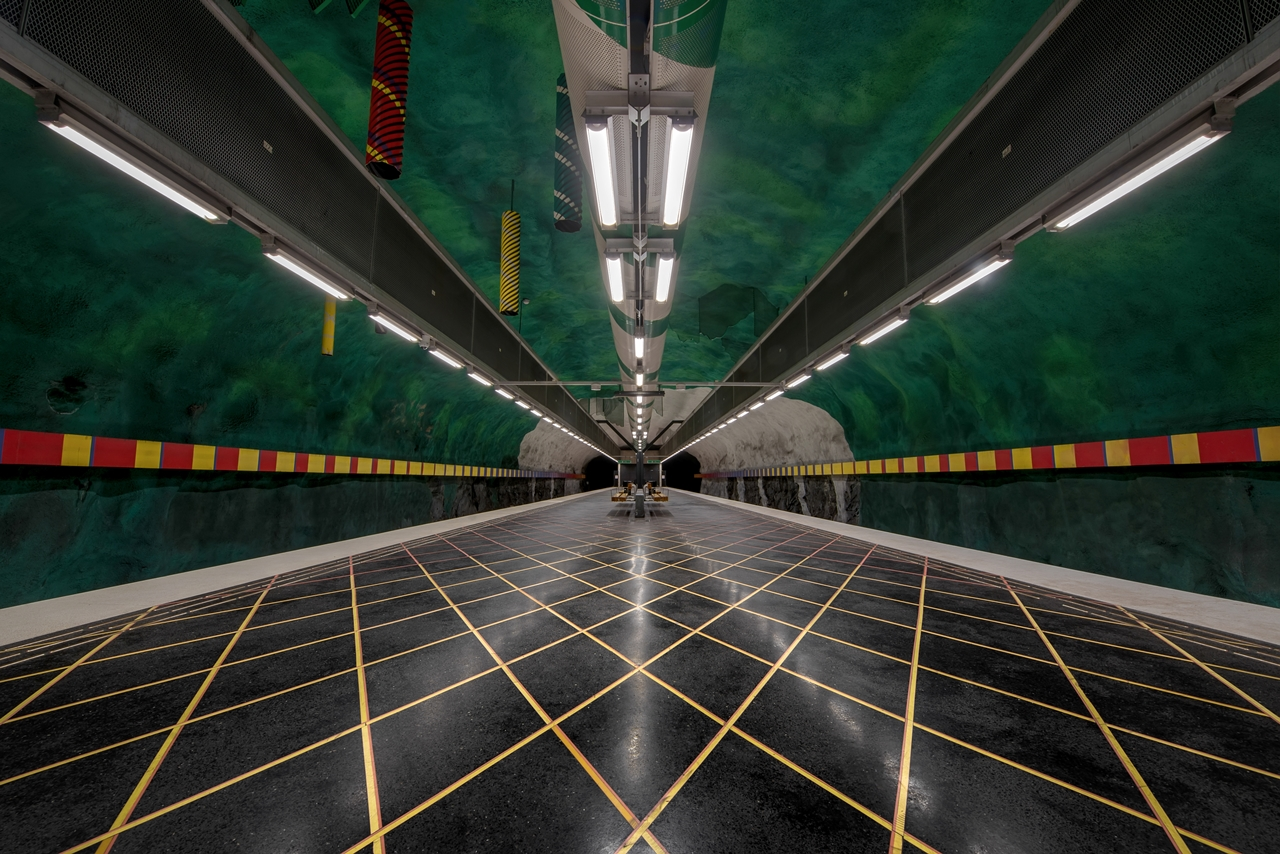 Stockholm's Colourful Metro Stations 12