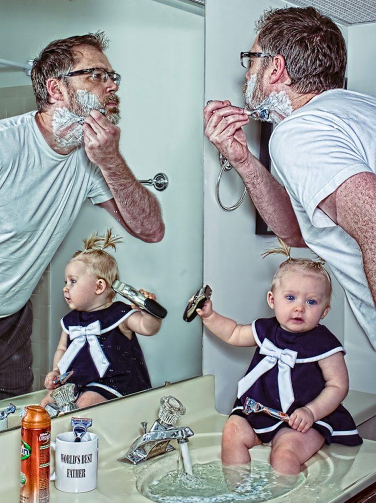 Новая причёска у папы