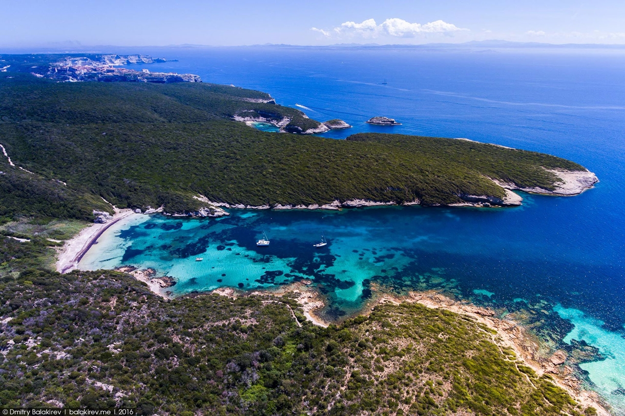 Stunning views of Corsica and Sardinia with a drone 11