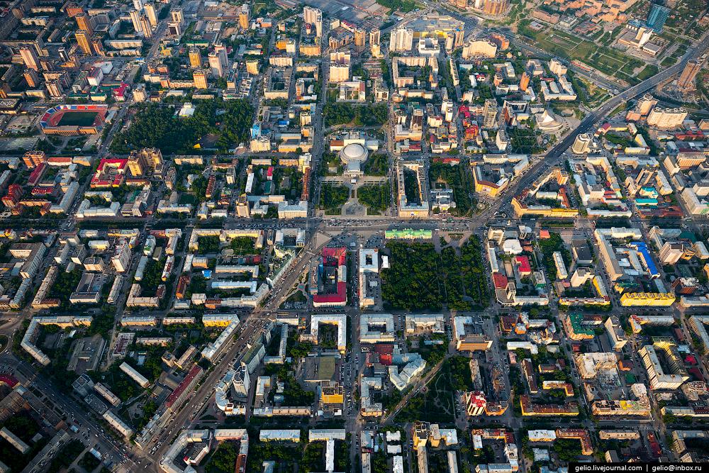 Новосибирск с вертолёта 2016