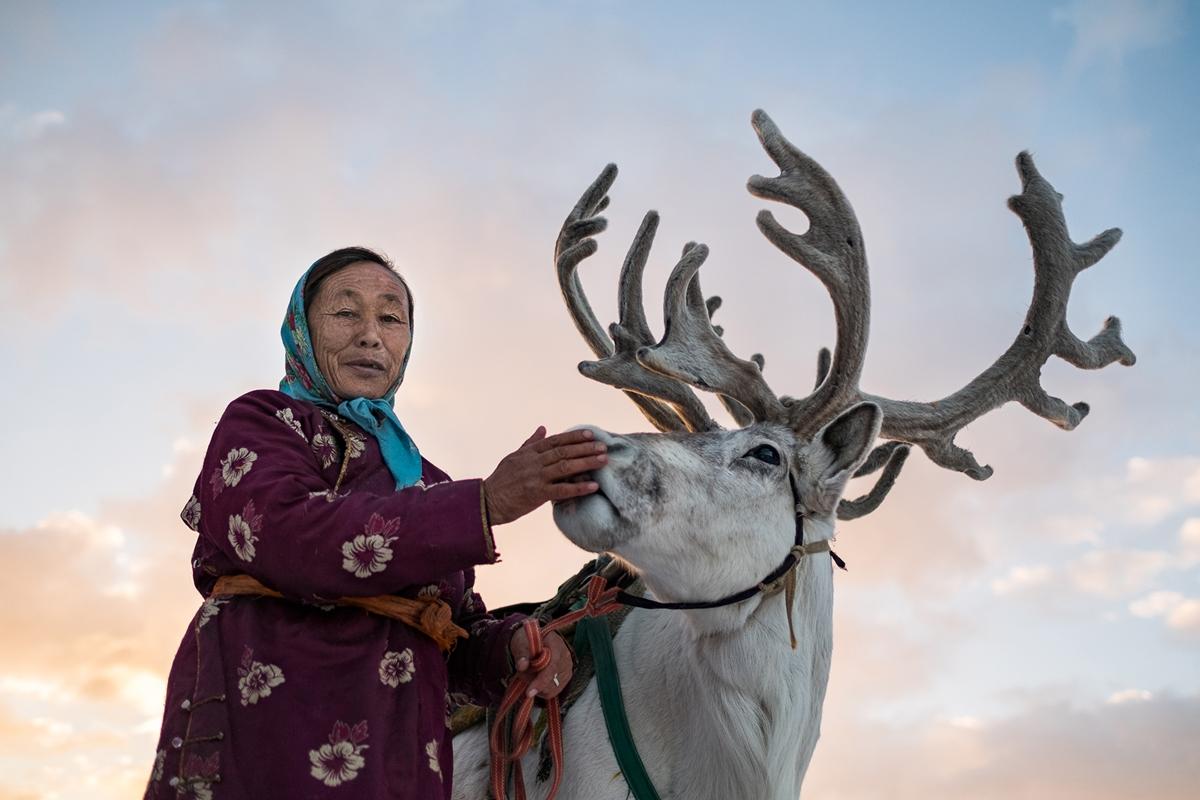 زندگی عجیب خانواده مغول و سواری گرفتن از گوزن ها + تصاویر