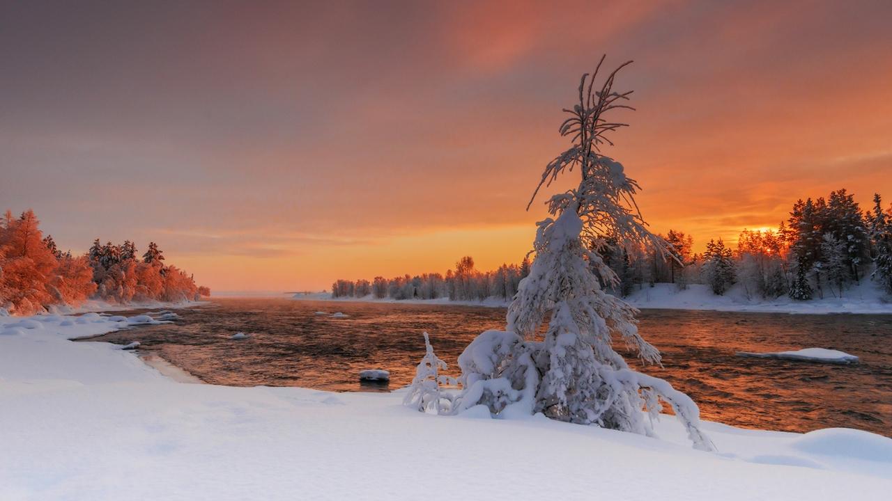 Зима в пейзажах Романа Горячего