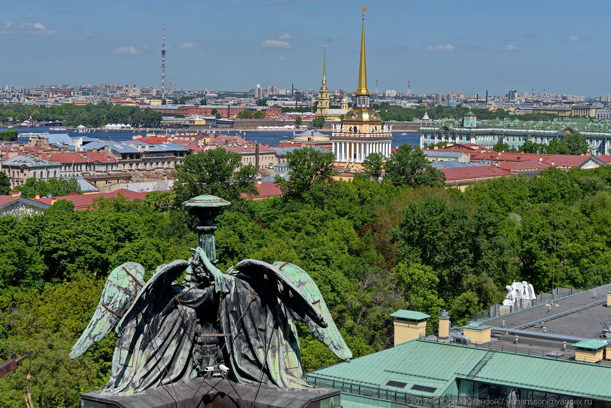Петербург с высоты Исаакия