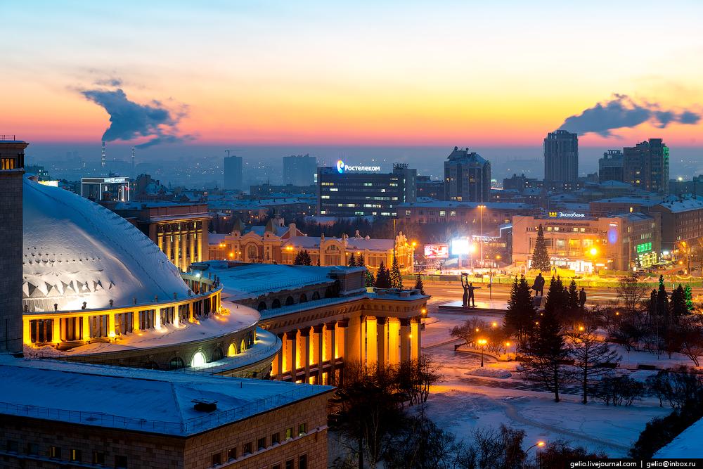 Новосибирск зимой 2017