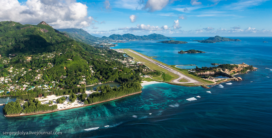 Сейшельские острова с высоты