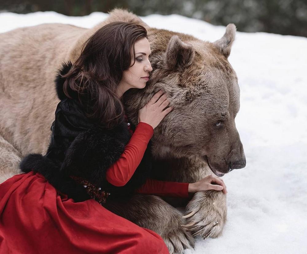Удивительные фотосессии людей с животными Ольги Баранцевой