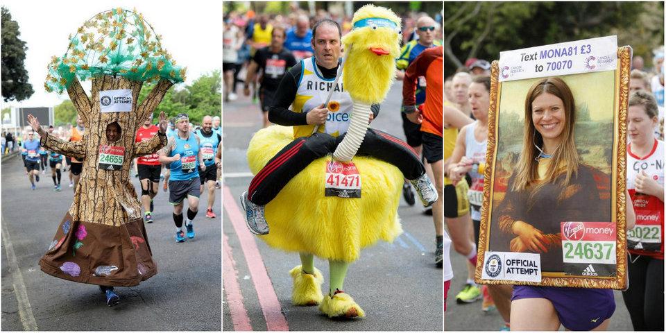 Причудливые костюмы участников марафона в Лондоне