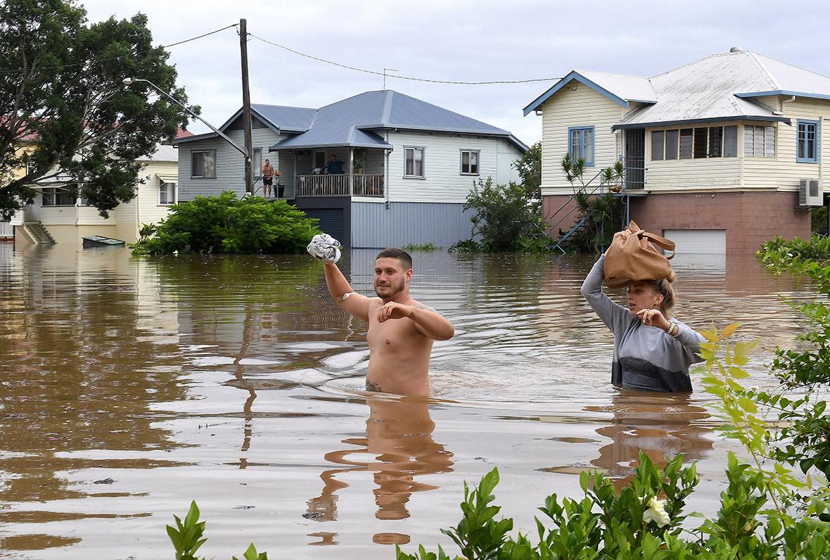 Наводнение в Австралии после мощного циклона «Дебби»