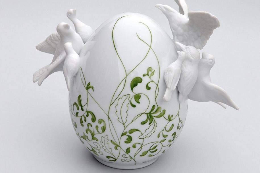 Фарфоровые яйца от Жюльетт Кловис