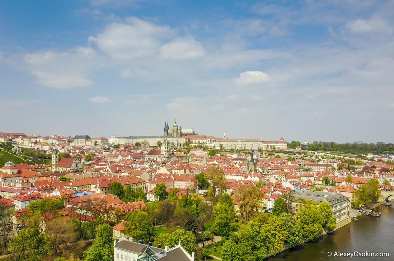 Прага c высоты птичьего полета: рай для владельцев дронов