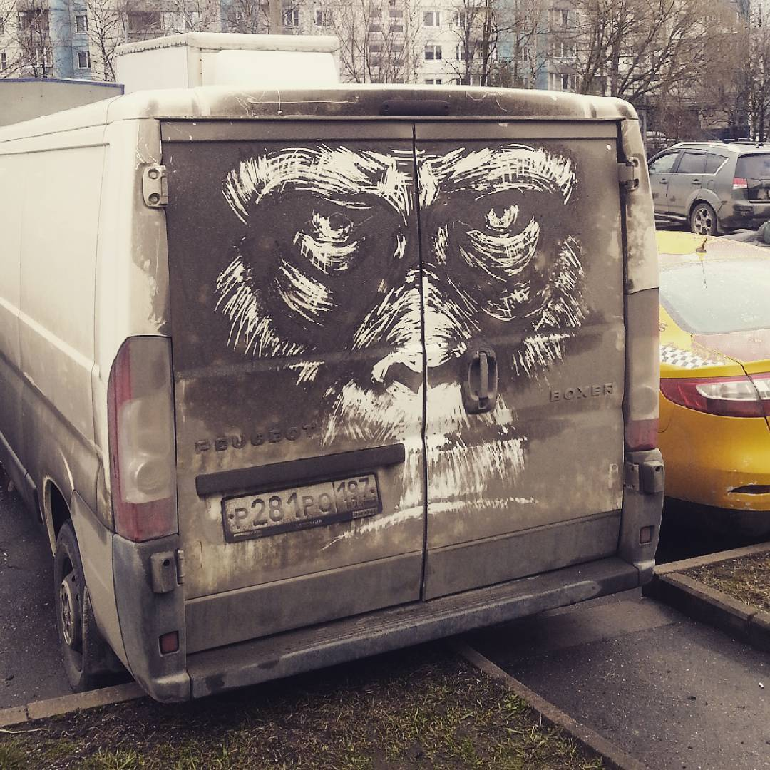 Талантливый парень превращает грязные автомобили в произведения искусства