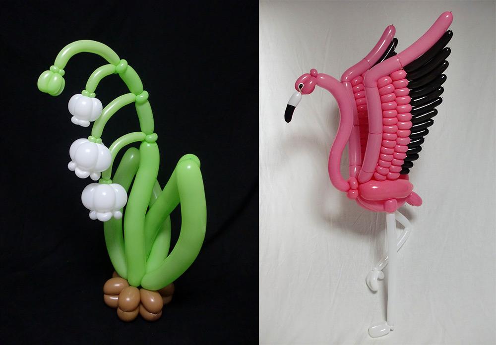 Красивые скульптуры из шариков Масейоши Мацумото