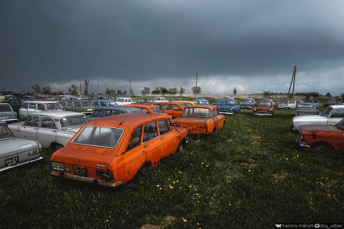 Кладбище советского автопрома в тульской области