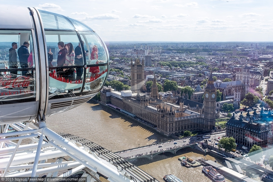 Лондонский глаз — самое высокое колесо обозрения в Европе