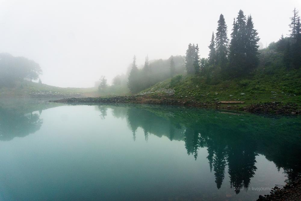 Аджария. Грин лэйк в утреннем тумане