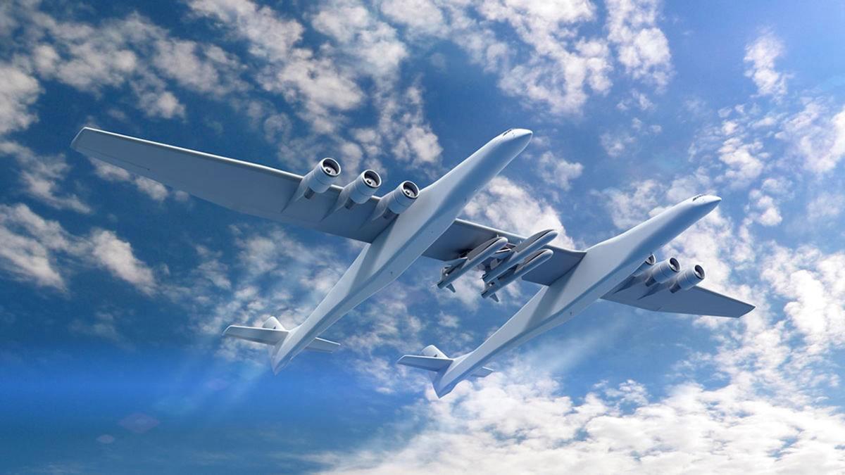 Stratolaunch – самый большой самолет в мире