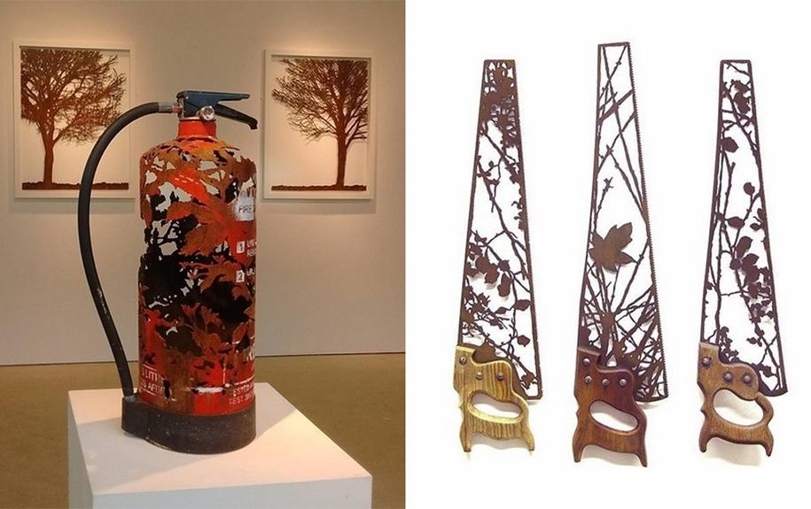 Художник создает скульптуры из ненужного металлолома