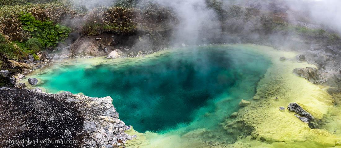 Горячие источники на вулкане Баранского