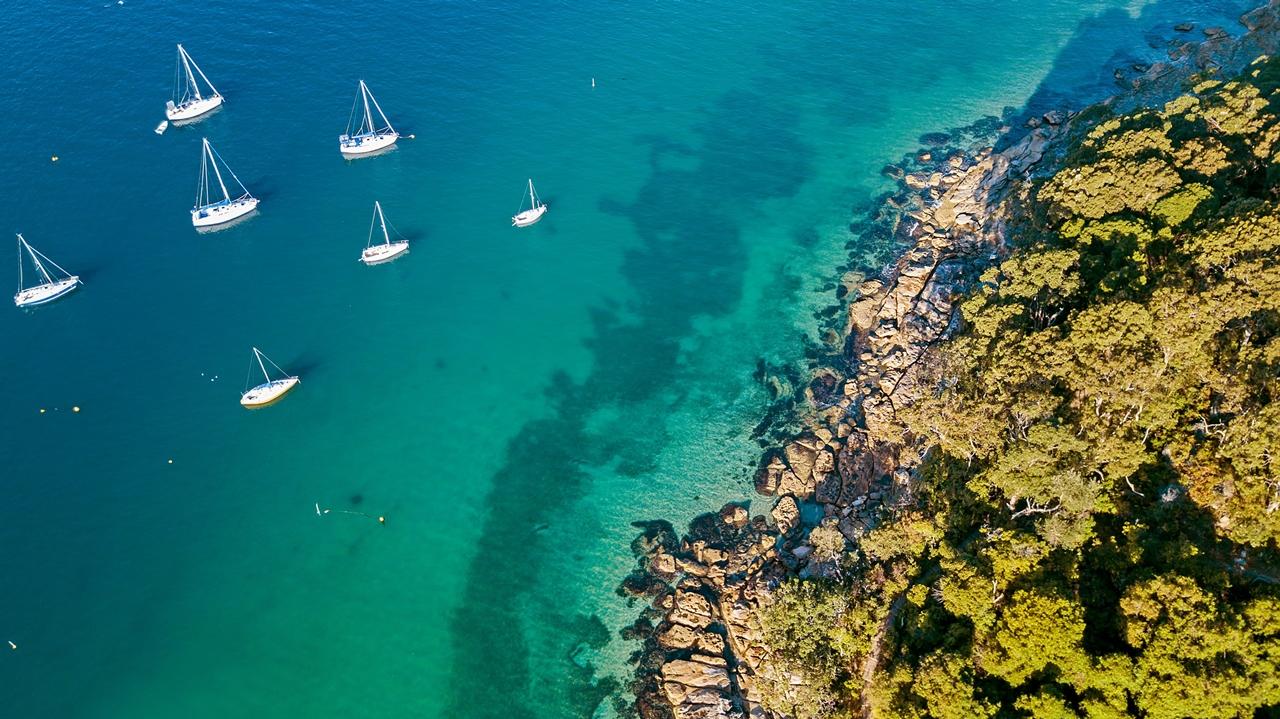 Северные пляжи Сиднея с высоты птичьего полета