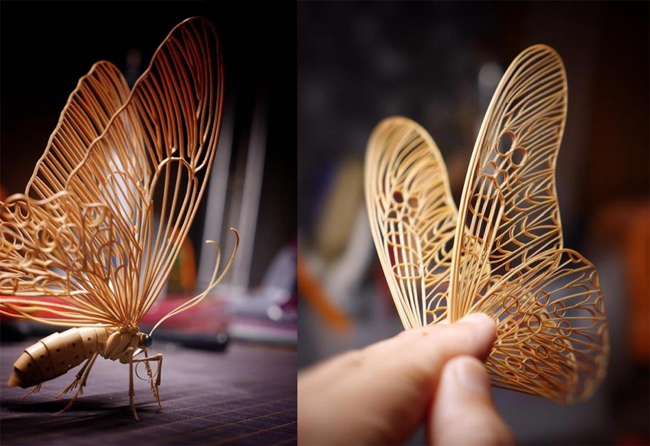 Невероятные насекомые из бамбука