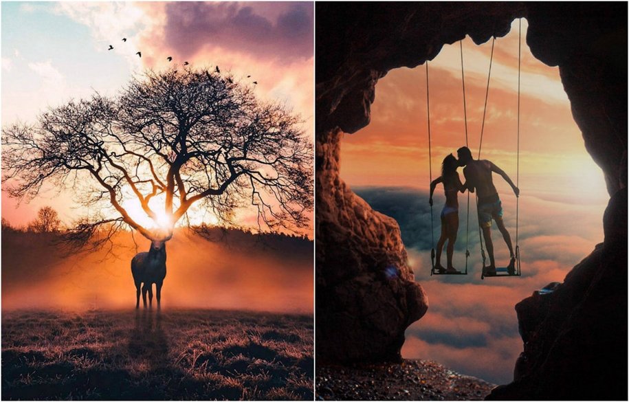 Волшебные миры в фотокомпозициях Рональда Онга