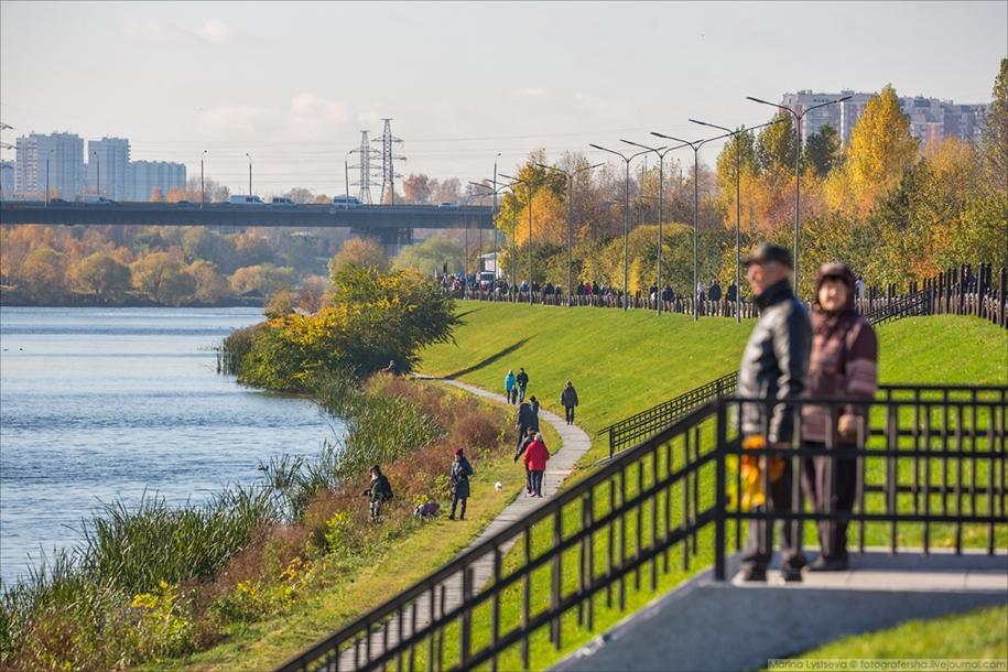 Обновлённый парк 850-летия Москвы