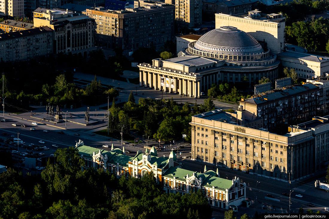 Новосибирск с вертолёта. Лето 2017