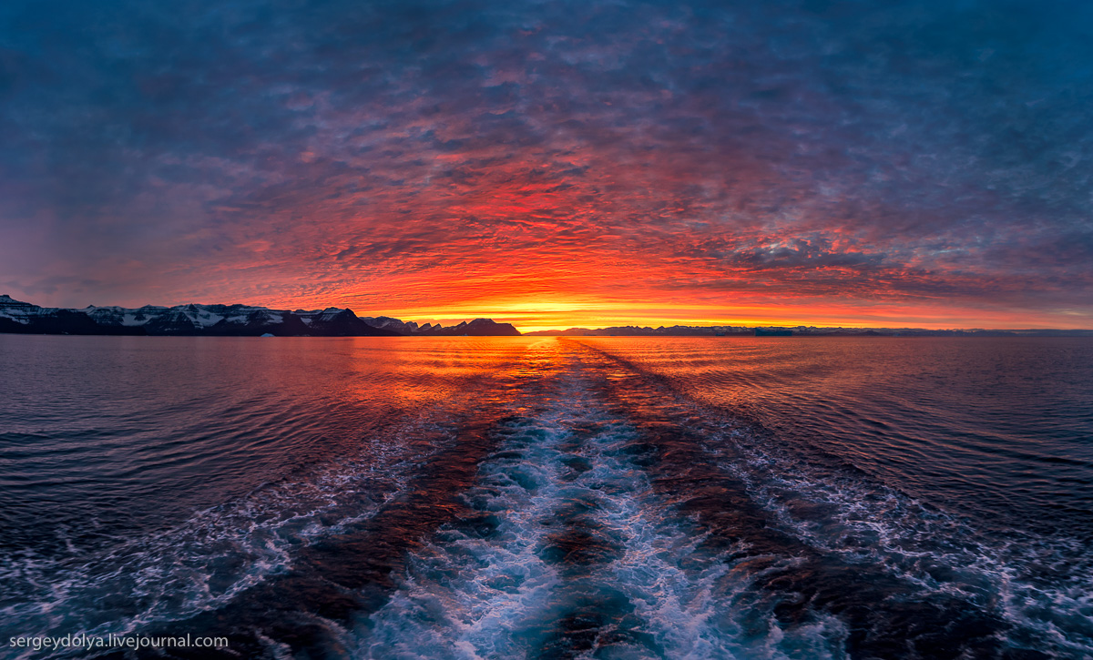 Закат в Гренландии