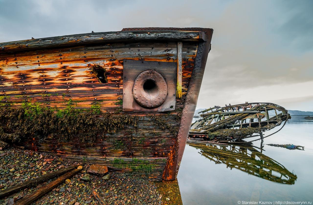 Териберка: северное сияние и кладбище кораблей